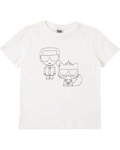 Трикотажная белая футболка Karl Lagerfeld