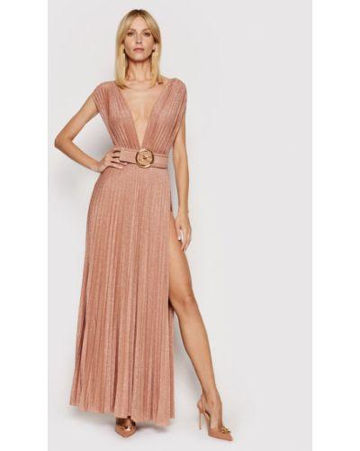 Złota sukienka wieczorowa Elisabetta Franchi