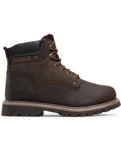 Кожаные ботинки - коричневые Dockers By Gerli