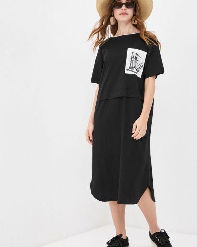 Платье-футболка - черное Bulmer