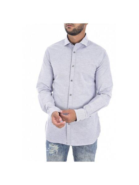 Szary t-shirt z długimi rękawami bawełniany Guess