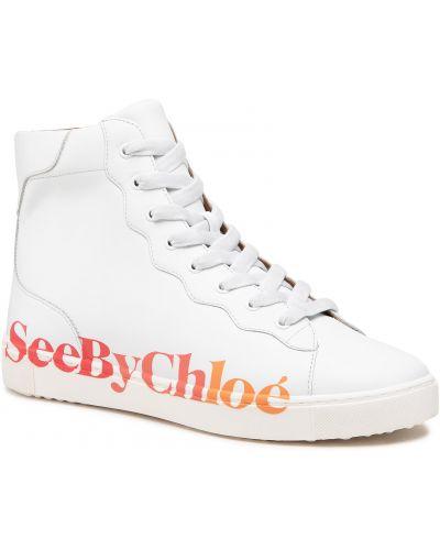 Białe półbuty casual See By Chloe