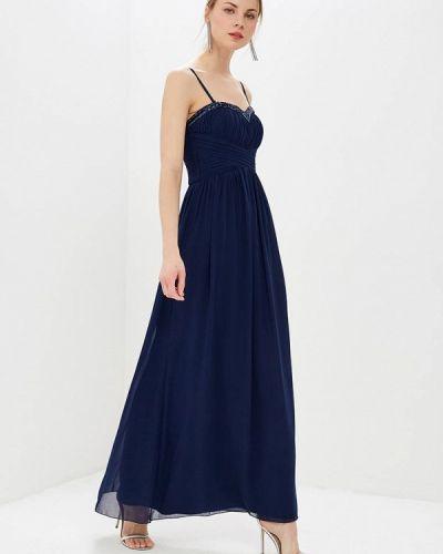Вечернее платье весеннее синее Little Mistress