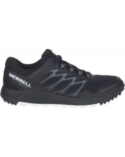 Кожаные черные кроссовки беговые для бега Merrell