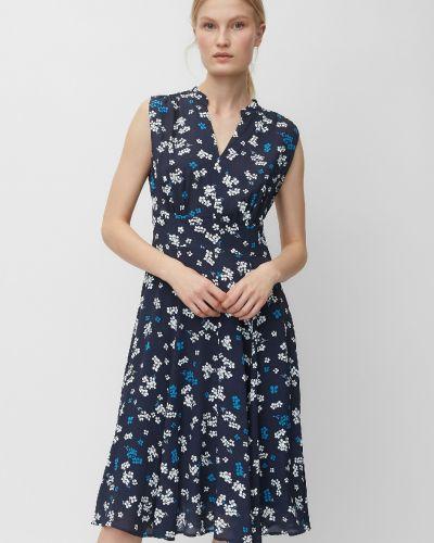 Расклешенное синее платье винтажное Marc O' Polo