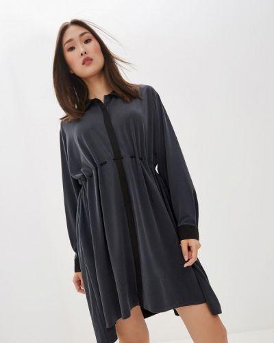 Повседневное платье серое осеннее French Connection