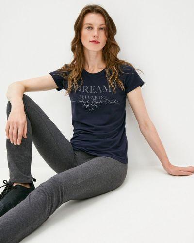 Синяя футболка с короткими рукавами Deha