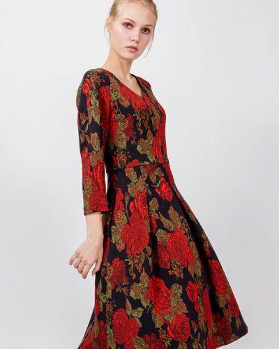 Платье миди осеннее мадам т