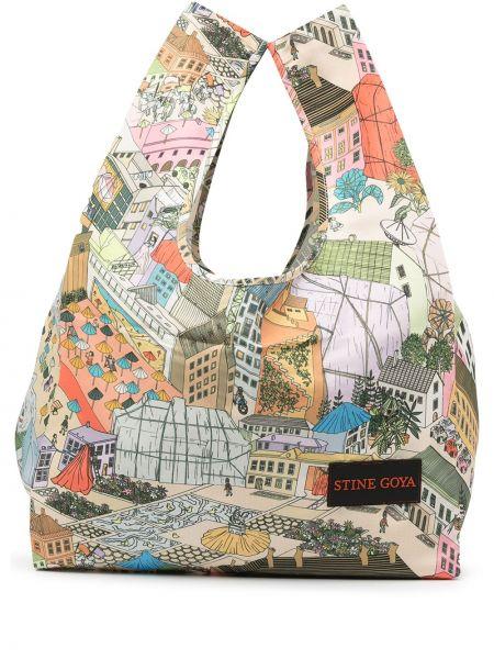 Городская зеленая сумка-тоут с заплатками Stine Goya