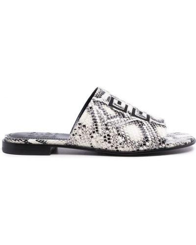 Sandały peep toe - białe Givenchy
