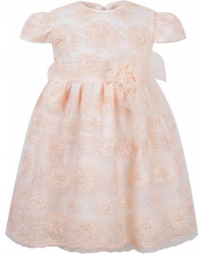Нарядное розовое платье Aletta