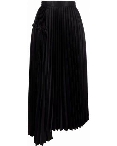 С завышенной талией плиссированная черная юбка миди Comme Des Garçons Noir Kei Ninomiya