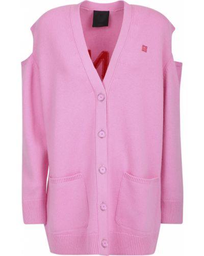 Różowy z kaszmiru sweter Givenchy