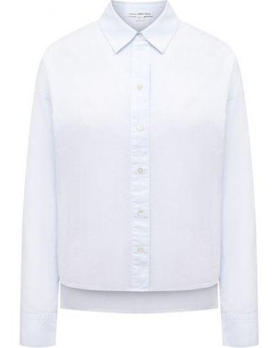Хлопковая синяя блузка James Perse