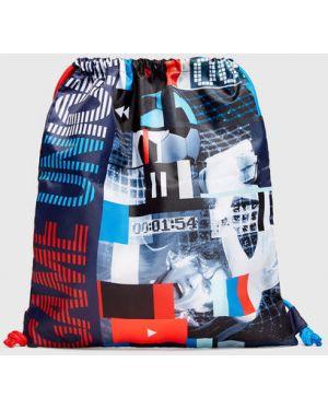 Синий рюкзак с карманами на молнии из канваса Ostin