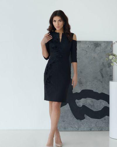 Кружевное вечернее платье - черное Odis