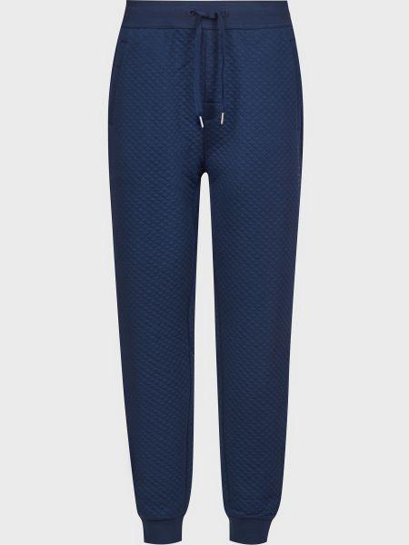 Спортивные брюки из полиэстера - синие Hugo Boss