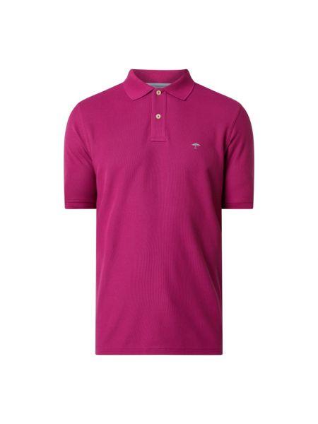 T-shirt bawełniana - fioletowa Fynch-hatton