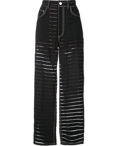 Классические брюки прямые прозрачные Fleur Du Mal