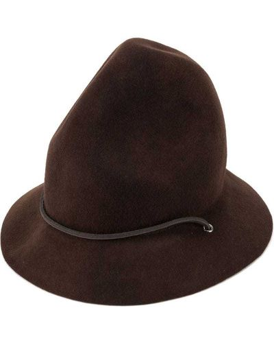 Коричневая шляпа с широкими полями Dsquared2