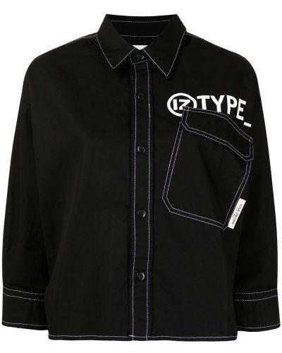 Klasyczna czarna koszula bawełniana Izzue