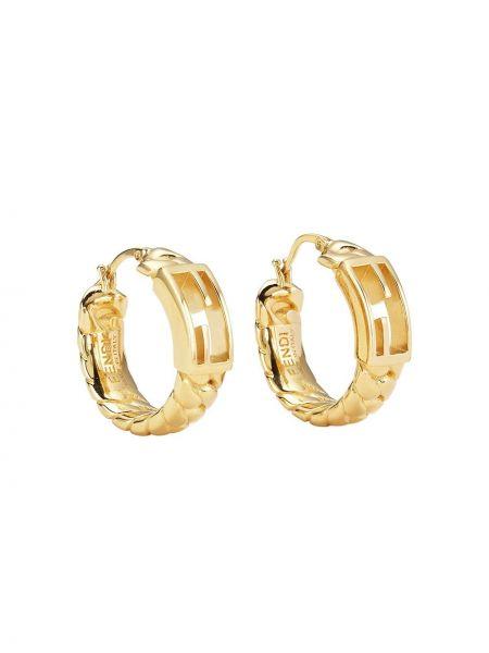 Кольцо металлическое - желтое Fendi