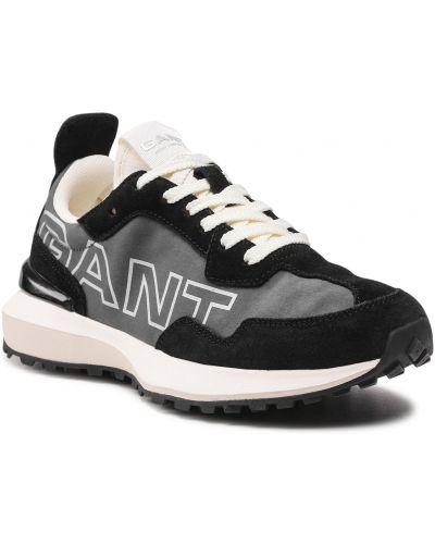 Czarne półbuty zamszowe Gant