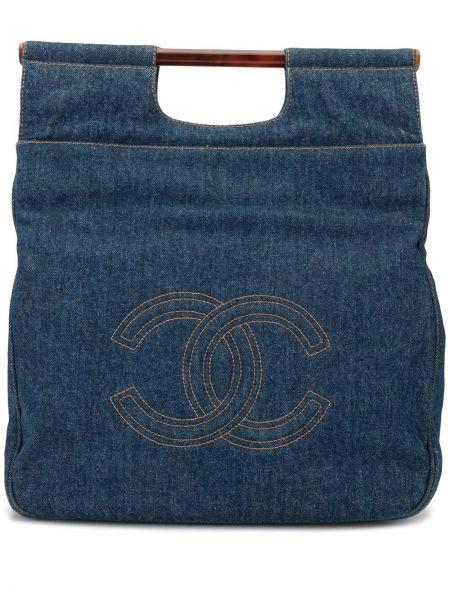 Сумка-тоут джинсовая на молнии Chanel Pre-owned