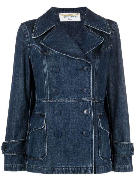 Хлопковая джинсовая куртка - синяя Alberta Ferretti