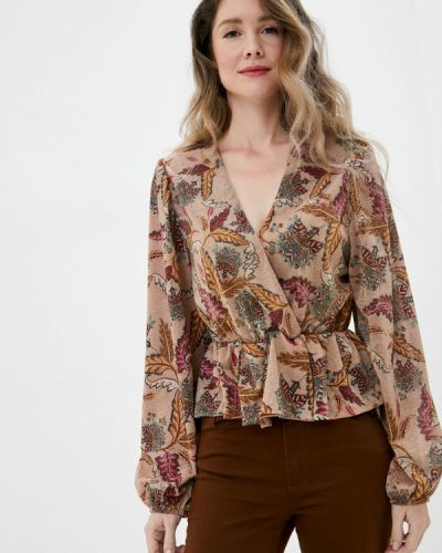 Бежевая блузка с длинным рукавом с длинными рукавами Imperial