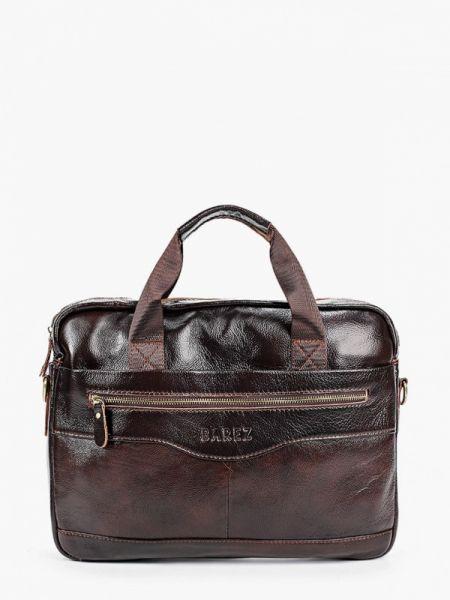 Коричневая кожаная кожаная сумка Barez