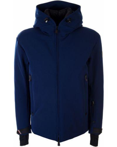 С рукавами куртка горнолыжная на молнии с капюшоном Moncler
