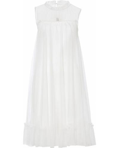 Шифоновое белое платье Bonprix