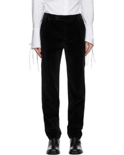 Czarne spodnie bawełniane z paskiem Palomo Spain