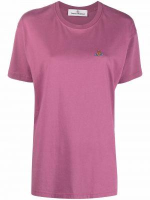 Розовая хлопковая футболка Vivienne Westwood