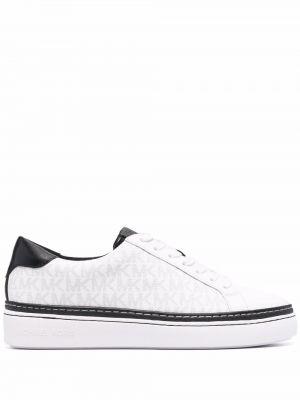 Белые кожаные кроссовки Michael Kors