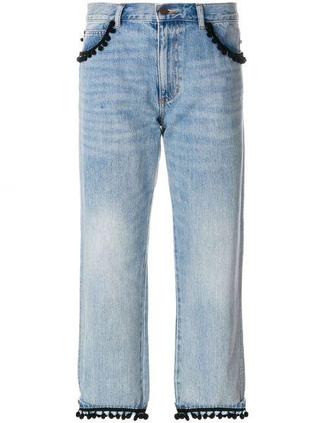 Укороченные джинсы с поясом на пуговицах в стиле бохо Marc Jacobs