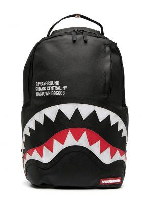 Черный рюкзак на молнии с подкладкой Sprayground Kid