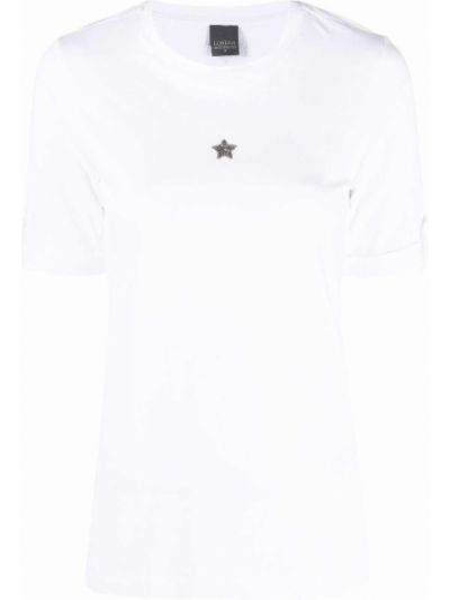 Белая футболка с вырезом Lorena Antoniazzi