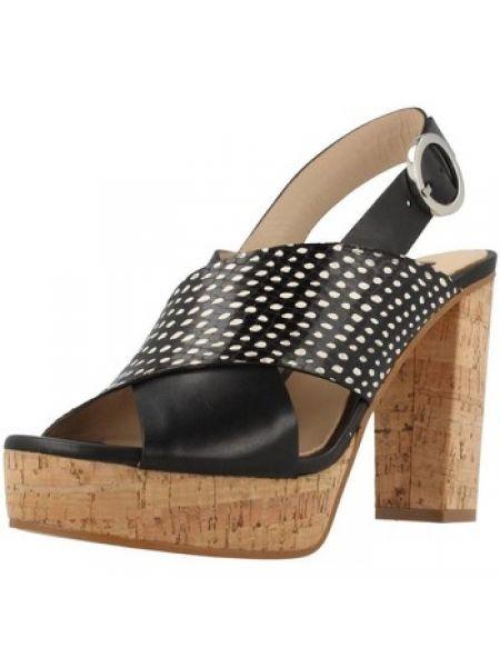 Czarne sandały Zinda