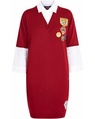 Платье мини оверсайз с V-образным вырезом Dsquared2