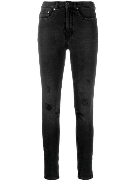 Джинсы-скинни черные на пуговицах Victoria, Victoria Beckham