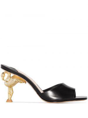 Черные мюли на каблуке Sophia Webster