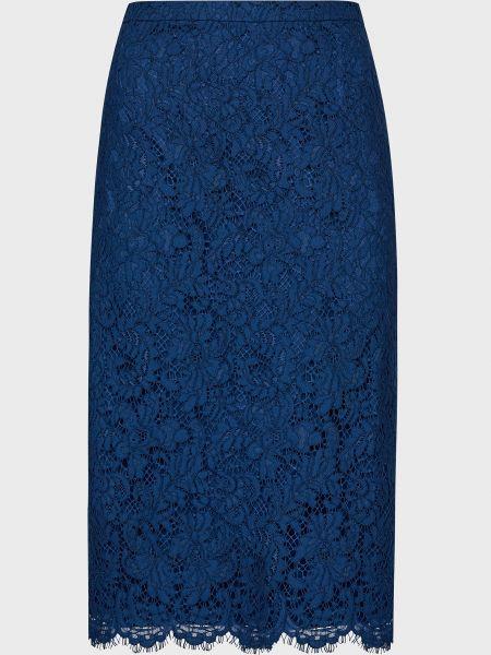Хлопковая юбка - синяя Luisa Spagnoli