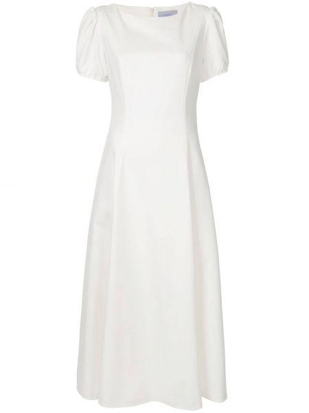 С рукавами белое платье миди с вырезом Luisa Beccaria