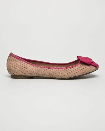 Розовые балетки резиновые Corina