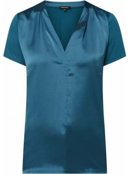 Bluzka krótki rękaw z wiskozy z dekoltem w serek More & More