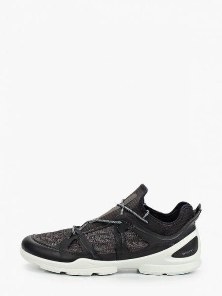 Текстильные черные кроссовки Ecco