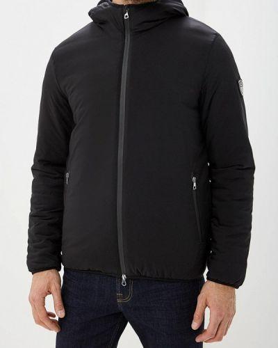 Куртка осенняя утепленная черная Ea7