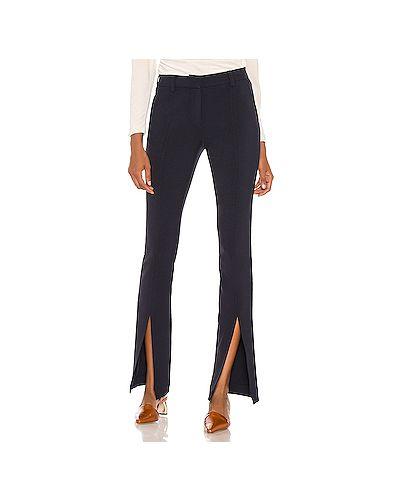 Синие брюки с карманами из габардина с разрезом Alc